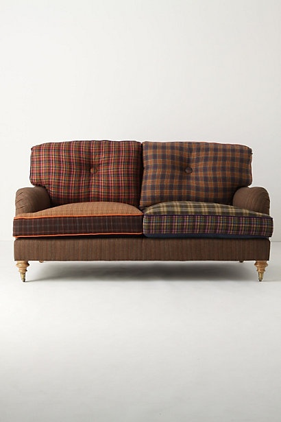 plaid colorblock sofa my favorite color pinterest. Black Bedroom Furniture Sets. Home Design Ideas