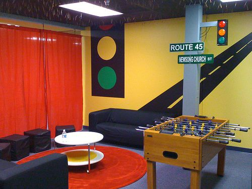 Youth room cheesy idea but like the concept of having a theme