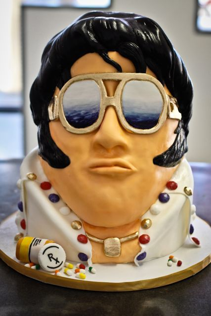 Pin Pin Elvis Presley 2 Edible Icing Birthday Cake Toppers On Cake On Pinterest
