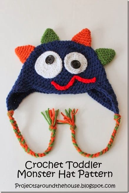 Crochet Toddler Monster Hat Pattern DIY Gifts and Crafts ...