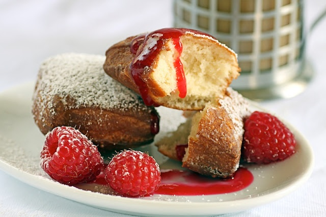 Baked Beignets With Chicory Coffee Sauce Recipe — Dishmaps