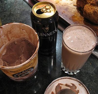 Chocolate Guinness Milkshake...for St. Patty's Day!