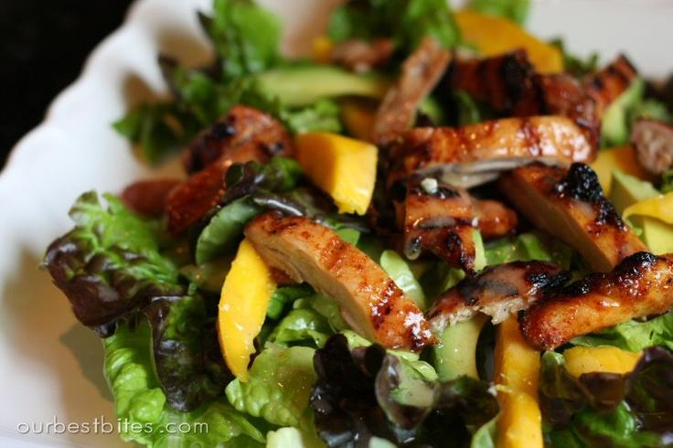 Spicy honey chicken salad with citrus vinaigrette