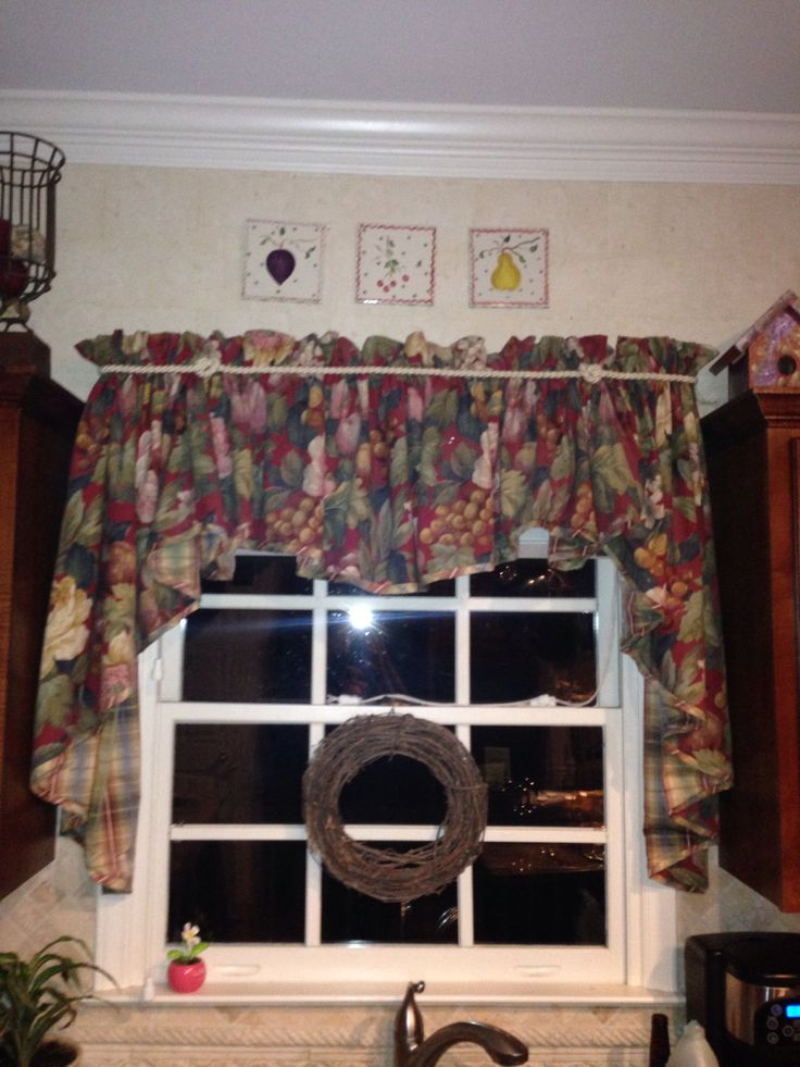Window treatment over kitchen sink