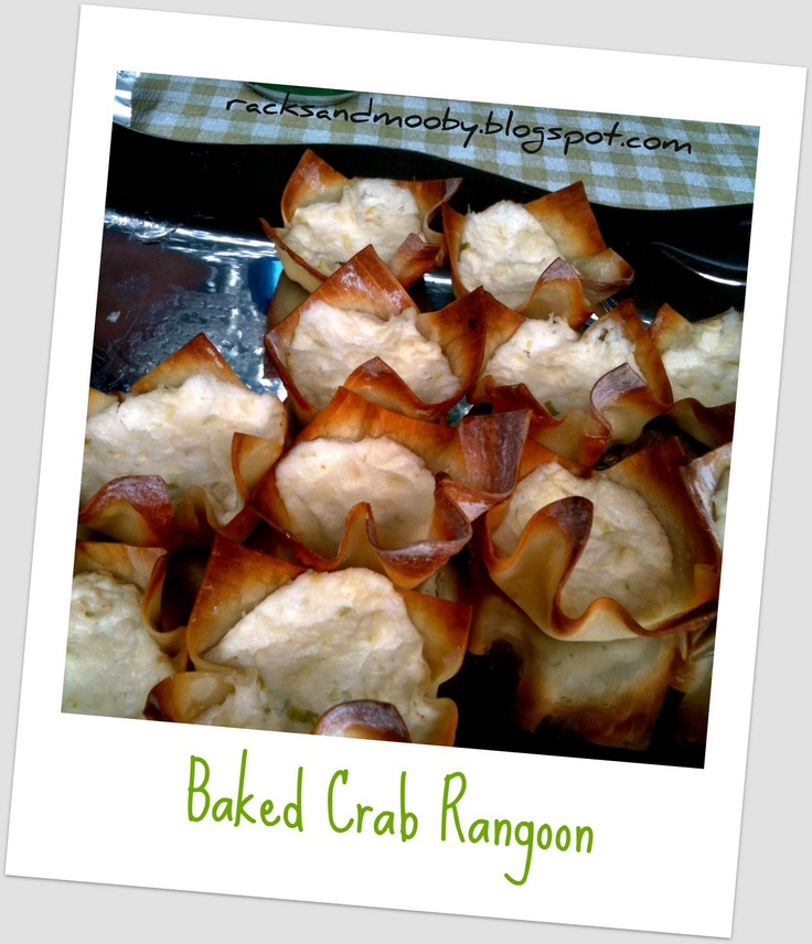 baked crab rangoons | yummy eats to try | Pinterest