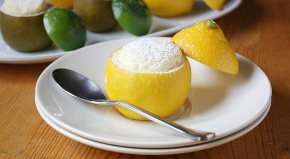 oh, my! lemon-lime souffles...the meringue is a little intimidating ...