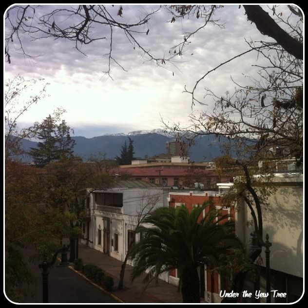 ... view from my hostel in Bellavista, Santiago de Chile. Breathtaking