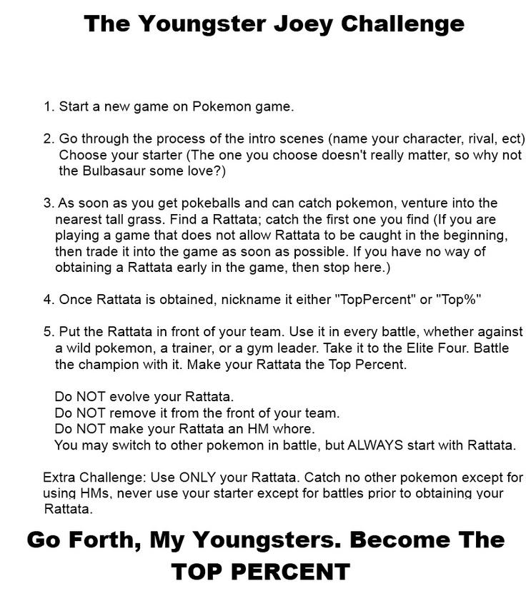 Youngster Joey Challenge Youngster Joey Challenge