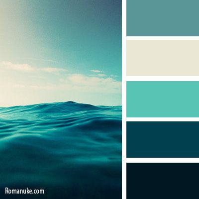 Color palette ocean blue google search home decor for Ocean blue color combinations