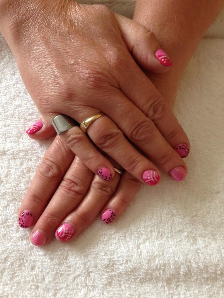 Rhinestones Gel Nails x | Gel nail art | Pinterest