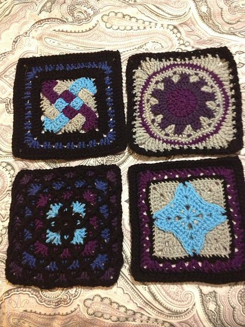 Crochet Jordans : Ravelry: Cheysk13s Jordans baby afghan crochet granny square Pi...