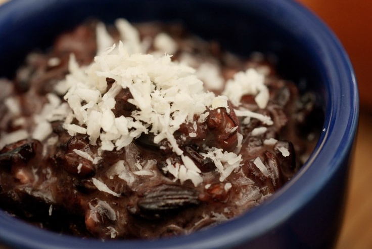 "Honey-coconut black rice pudding | ""Pour some sugar on me..."" 