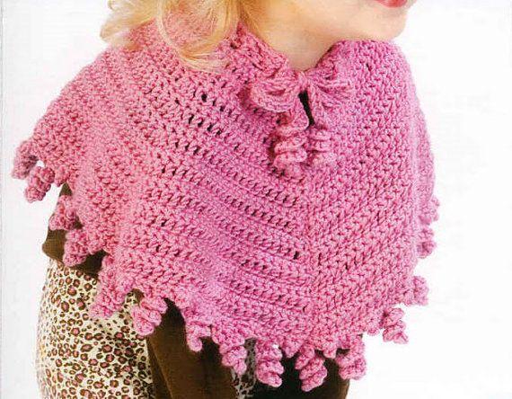 Pink Poncho Baby Crochet - PDF Pattern Crochet
