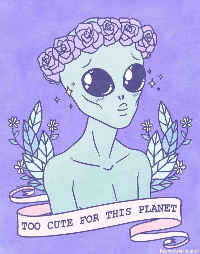 Рисунок милых инопланетян