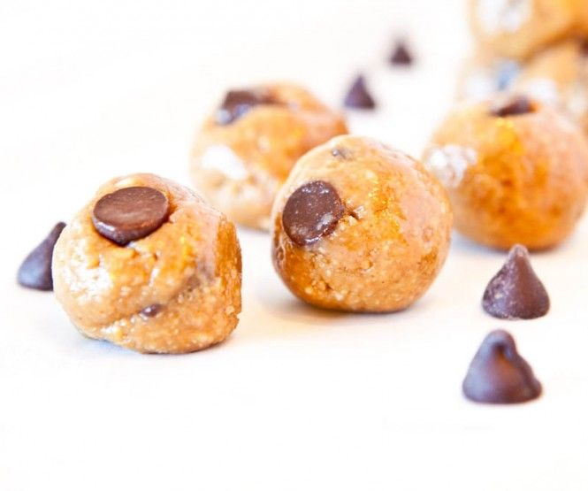 No Bake Peanut Butter Chocolate Chip Cookie Dough Bites: made 1/15/12 ...