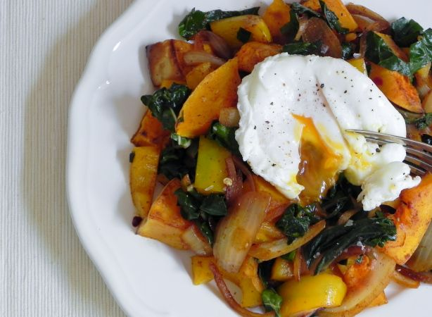 Roasted Butternut Squash And Swiss Chard Quinoa Bibimbap Recipe ...