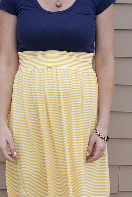 high waisted maternity skirt sewing