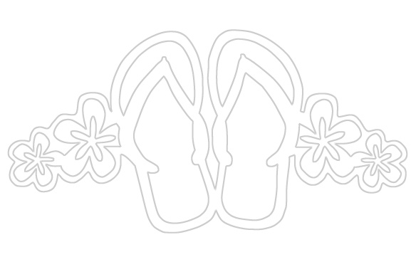 Summer Flip Flops Paper Cuts Coloring Pages Pinterest Flip Flop Coloring Page