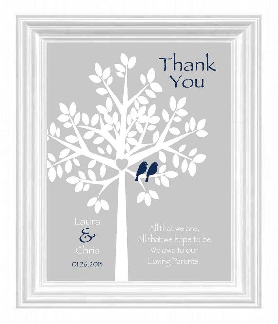 Wedding Gift For My Parents : Wedding Gift for Parents from Bride and Groom- Thank you gift for Fut ...