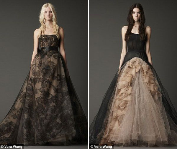 Vera Wang Black Bridal Wedding Dress Pinterest