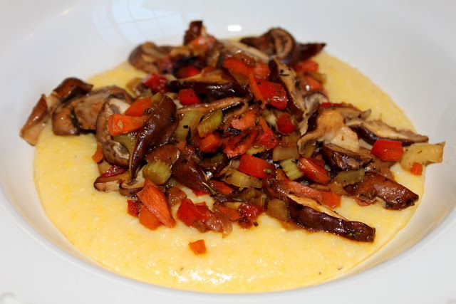 Wholesome Dinner Tonight: Polenta with Mushroom Ragout