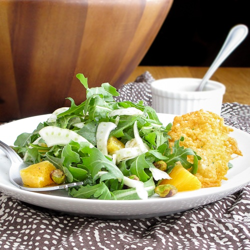 Arugula and shaved fennel salad with oranges and honey cider ...