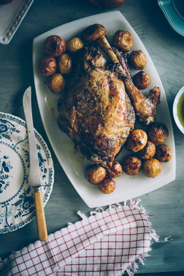 Daniel Galmiche's Roast Leg Of Lamb With Garlic And Lavender Recipe ...