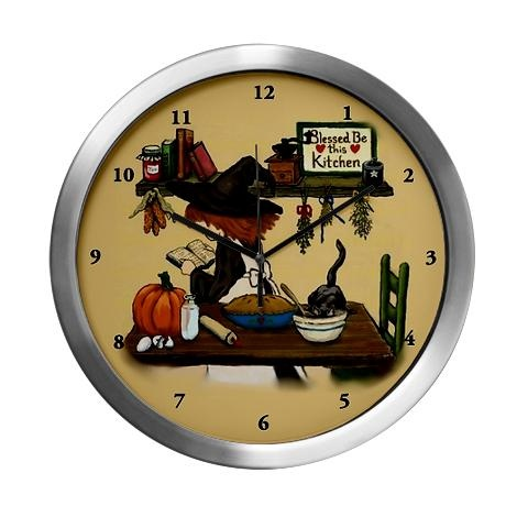 Kitchen witch modern wall clock on - Modern clocks for kitchen ...