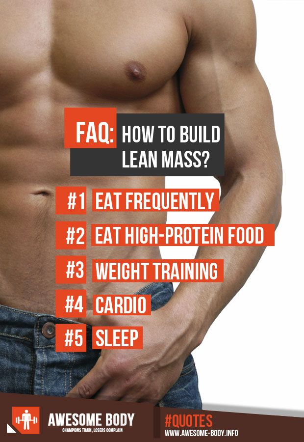 how to build lean body mass
