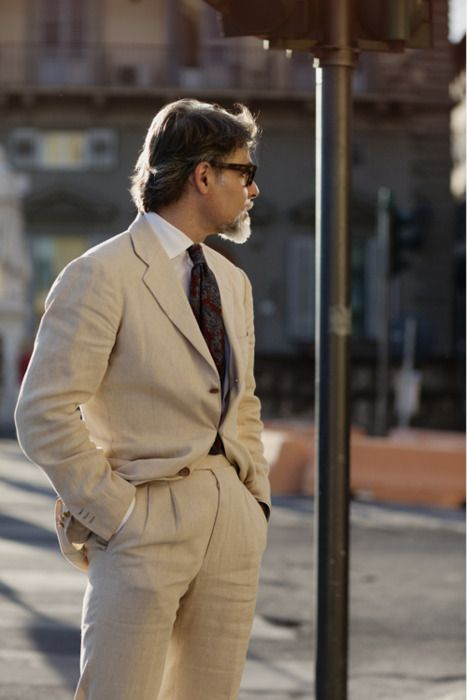 A handsome Italian summer suit.