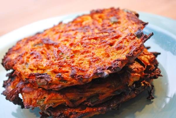 Savory Sweet Potato Latkes. These are baked, thanks to Vered's recipe ...