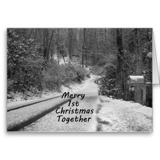 Merry 1st christmas together greeting card
