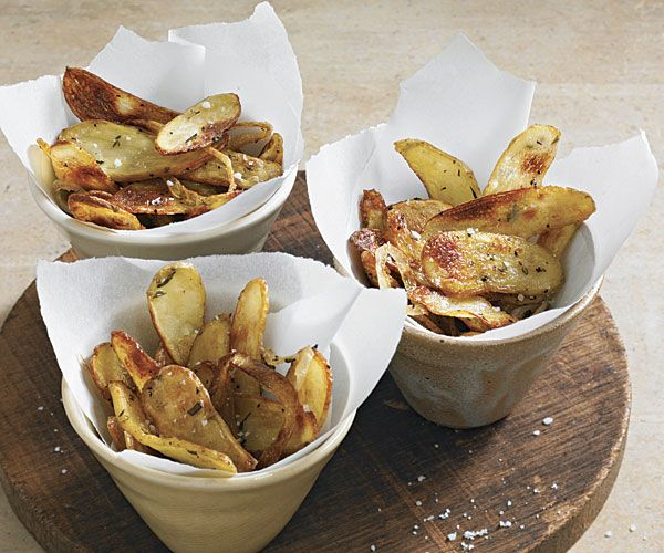 Roasted Fingerling Potato Crisps with Shallots and Rosemary | Recipe