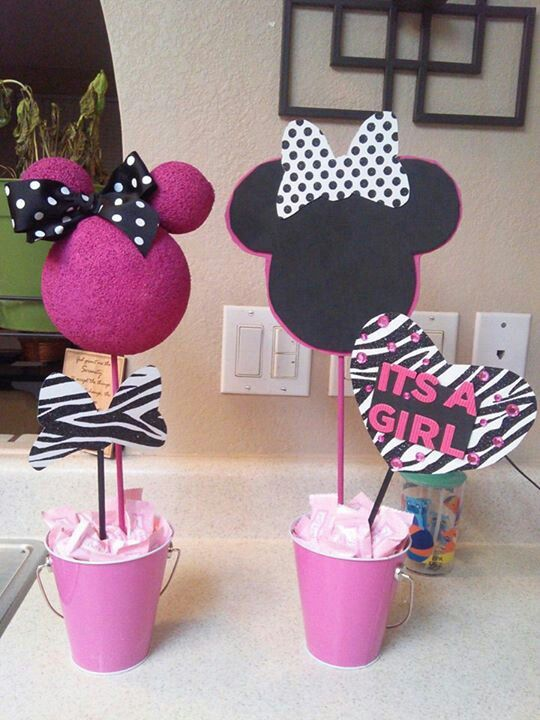 Diy minnie mouse baby shower decorations for Baby minnie decoration ideas