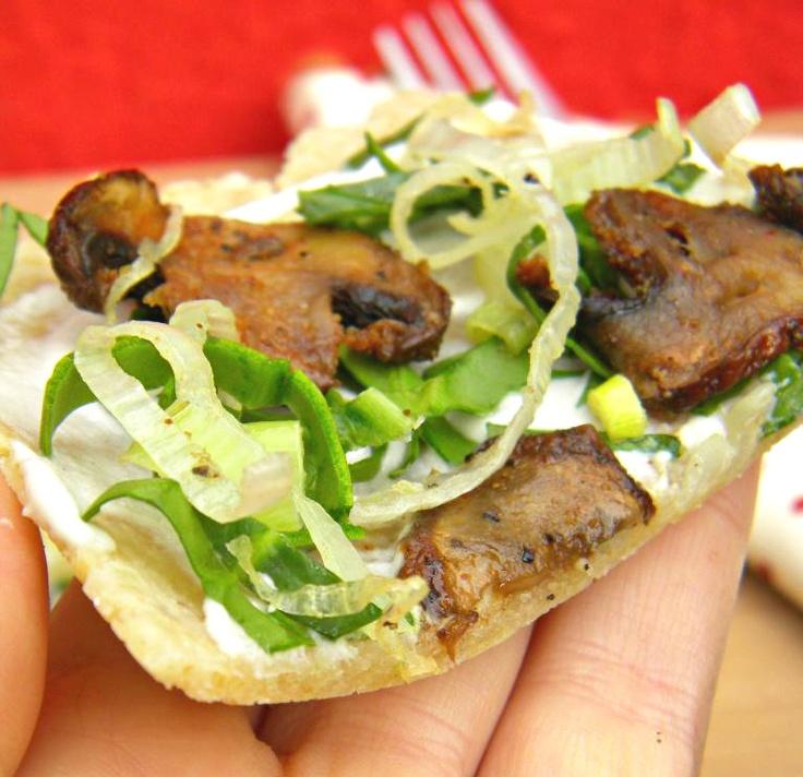 Mushroom, Spinach, And Scallion Tart Recipe — Dishmaps