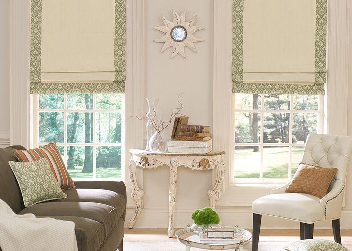Fabric roman shades curtain ideas pinterest for Fabric window blinds designs