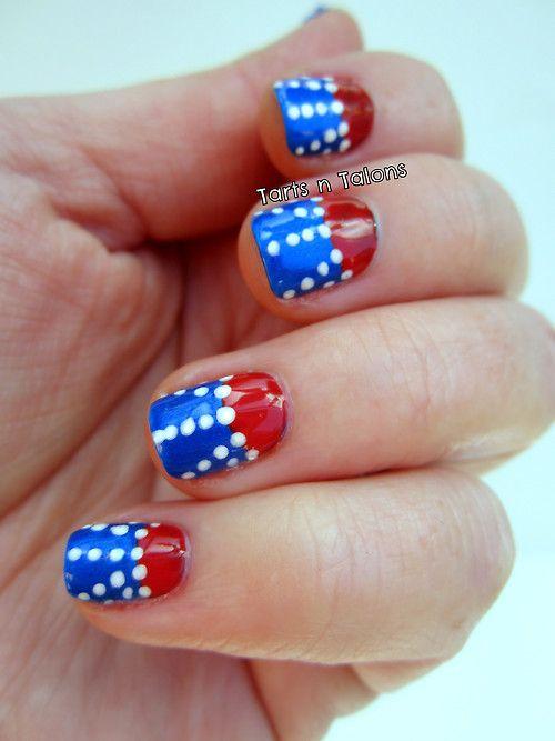 memorial day nail tutorial