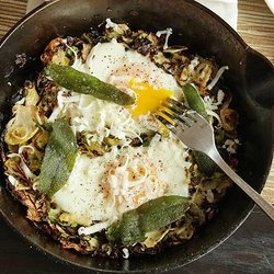 Brussels Sprouts Hash with Fried Sage and Soft Cooked Eggs ...