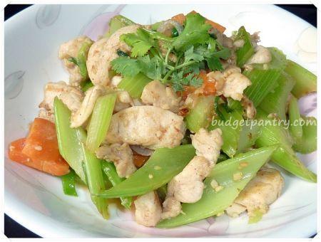 Stir-fry Celery with Garlic Chicken   Favorite Recipes   Pinterest