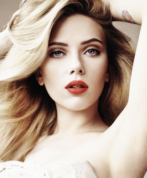 Scarlett johansson red hair vogue