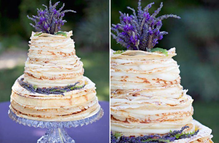 Unique Rustic theme - Crepe Wedding Cake