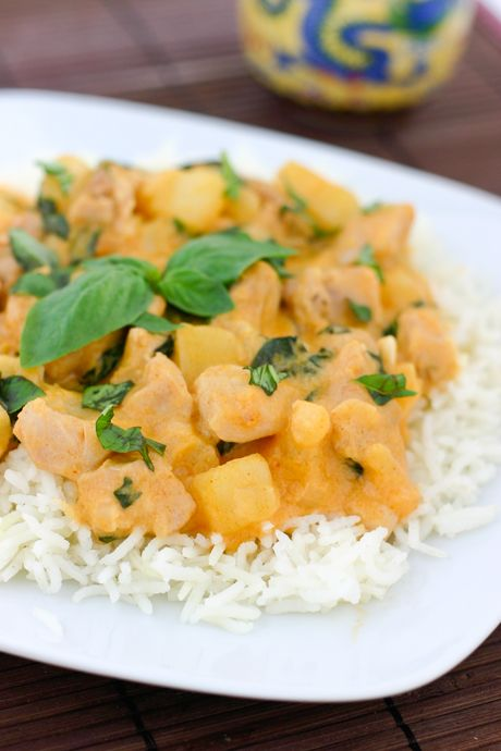 Coconut Basil Chicken Curry | Recipes | Pinterest