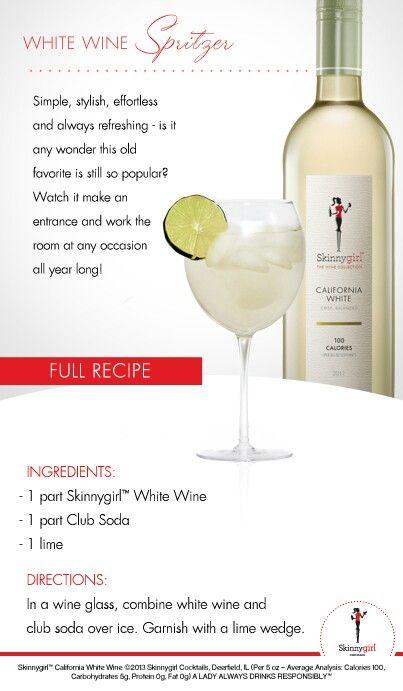 White wine spritzer | Bottoms Up | Pinterest