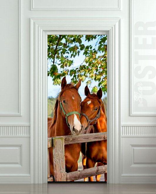 Dream Pony Door Mural 2017 Grasscloth Wallpaper