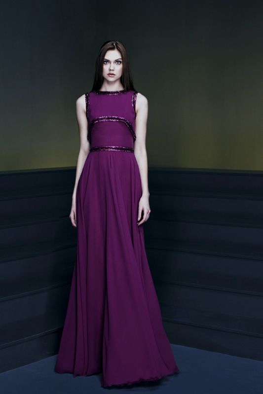 Purple wedding dress this designer is incredible