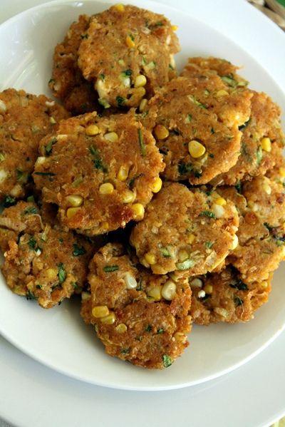 Quinoa, Zucchini and Corn patties | Yummy Food! | Pinterest