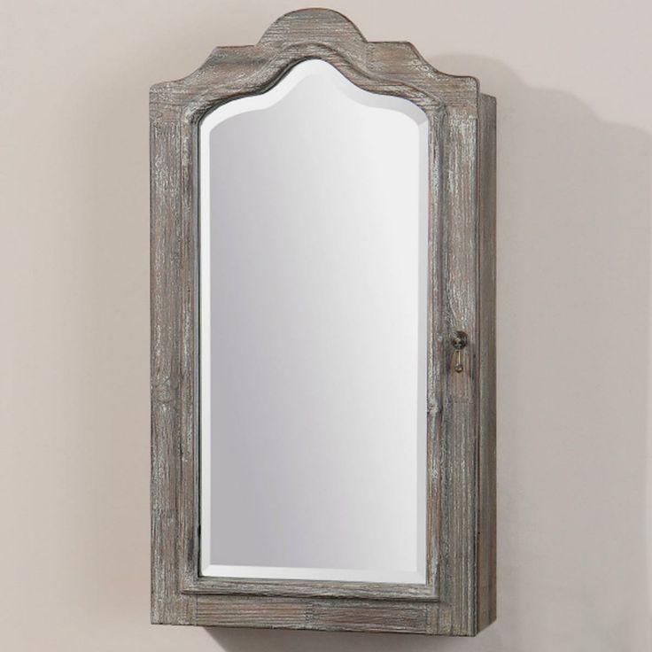 Hinged bathroom mirrors