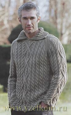 Образец мужской джемпер вязание