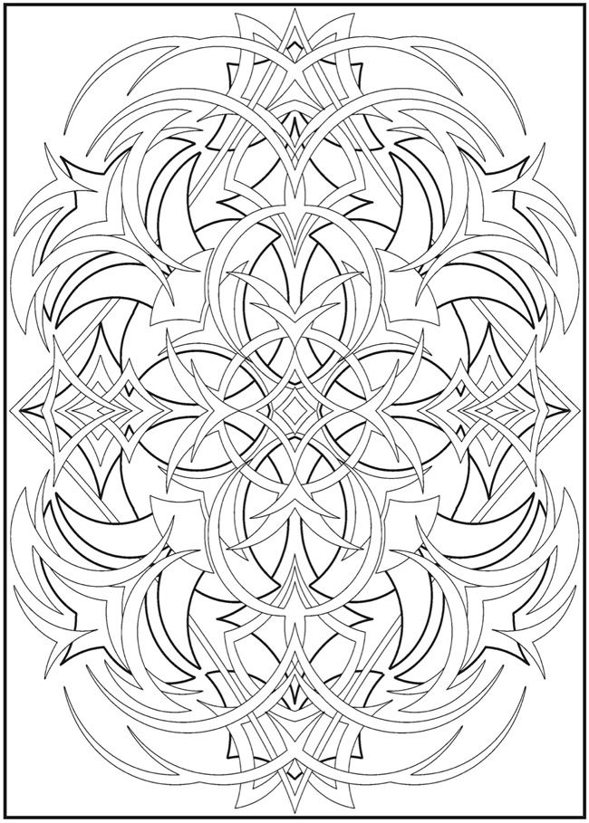 abstract design 1 adult color pages pinterest