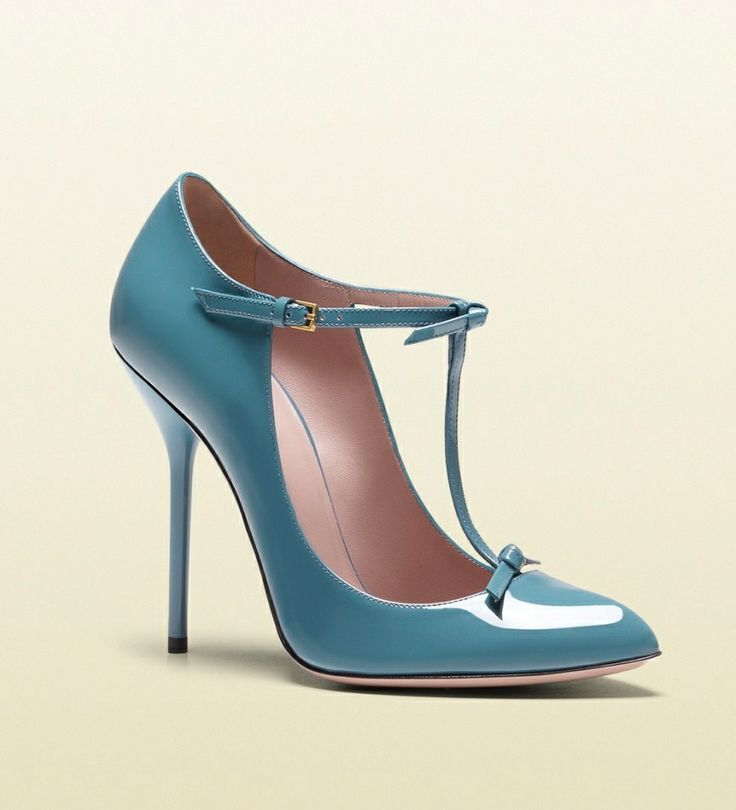 Shoe du Jour 5.21.13 Gucci Beverly T-Strap Patent Pumps